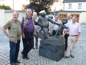 Siegener Schachfreunde in Plauen vor der Galerie e.o.plauen